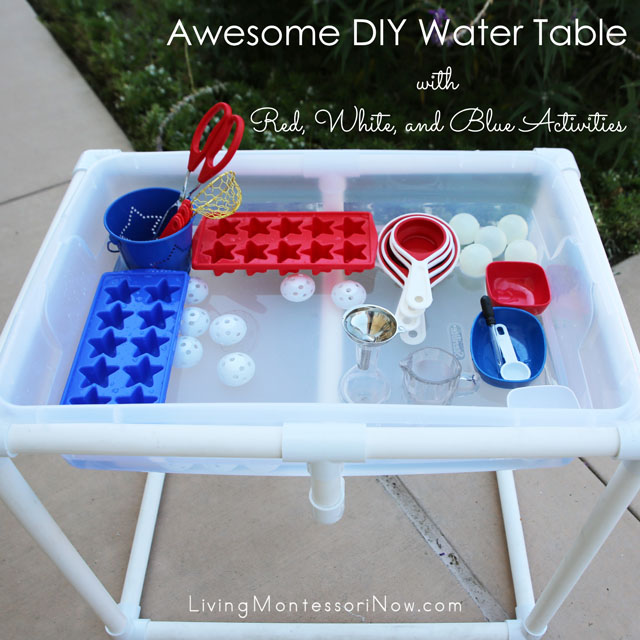 All Weather Ping Pong Table Awesome DIY Water Table with Red, White, and Blue Activities - Living ...